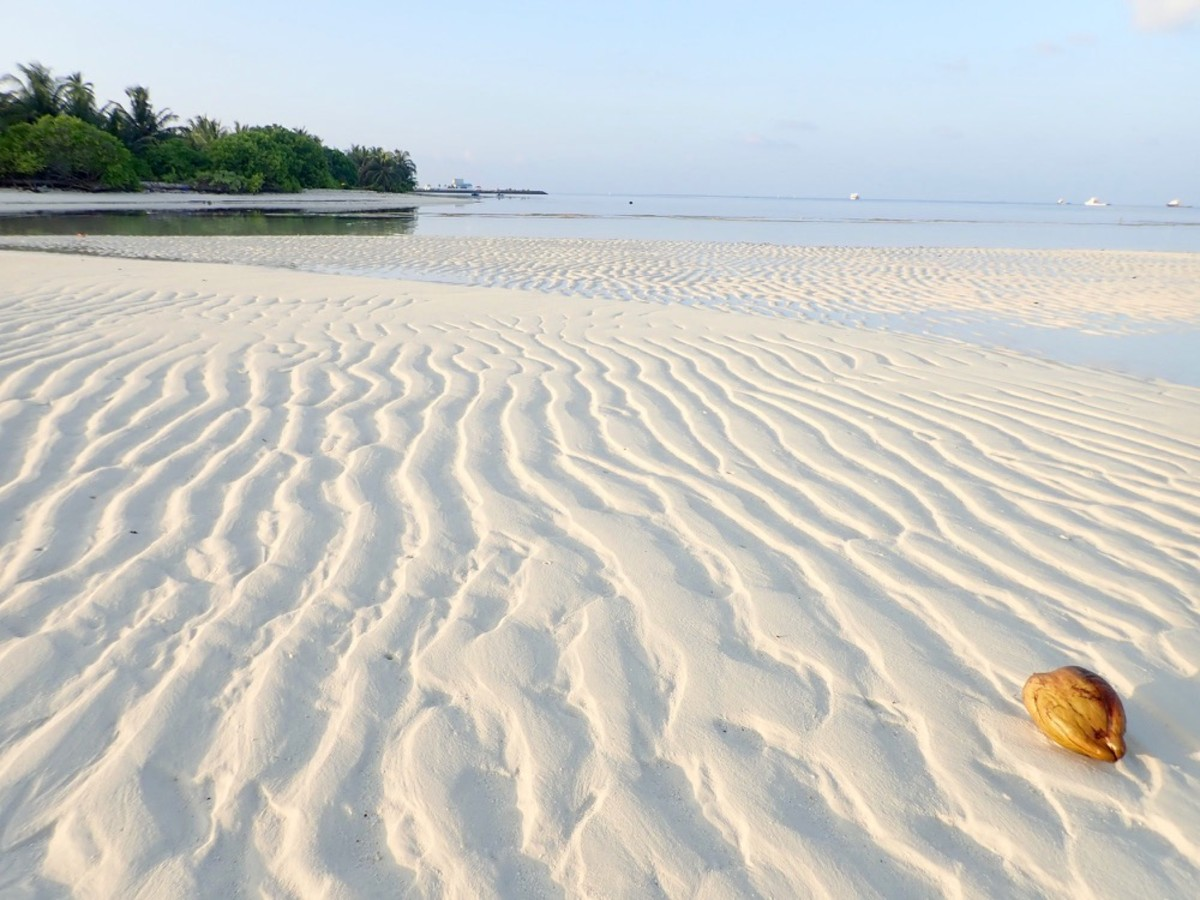 White, Sandy Beach in the Maldives