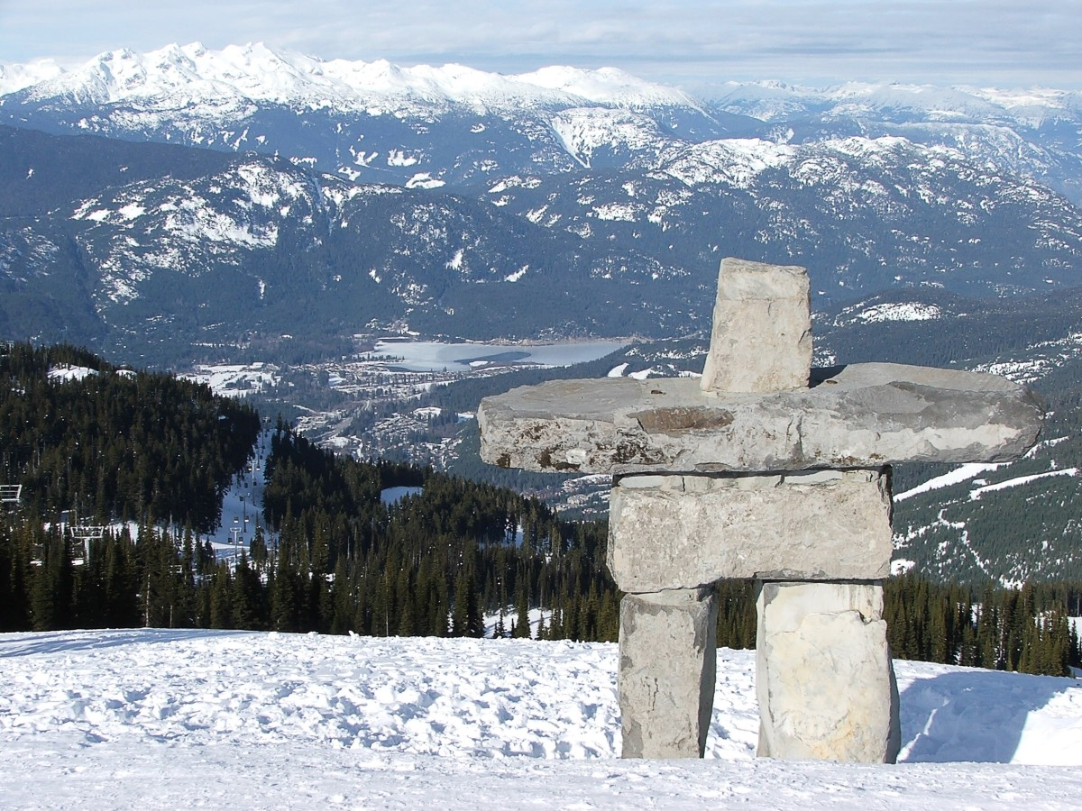An inukshuk on Whistler Mountain