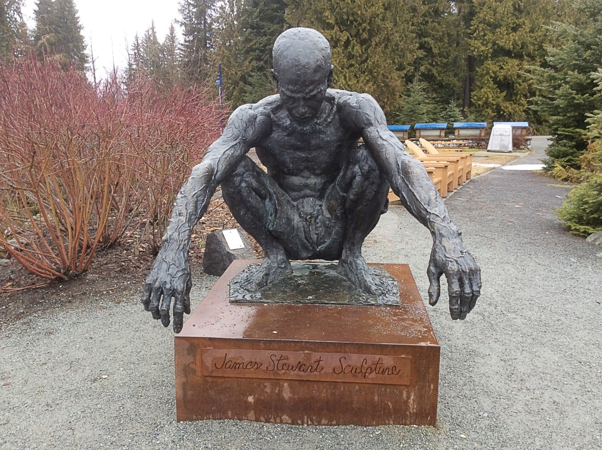 A sculpture by the Fitzsimmons Trail