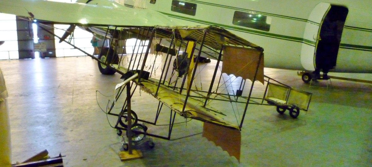 Henry Farman 1909 Biplane at 1940 Air Terminal Museum Hangar