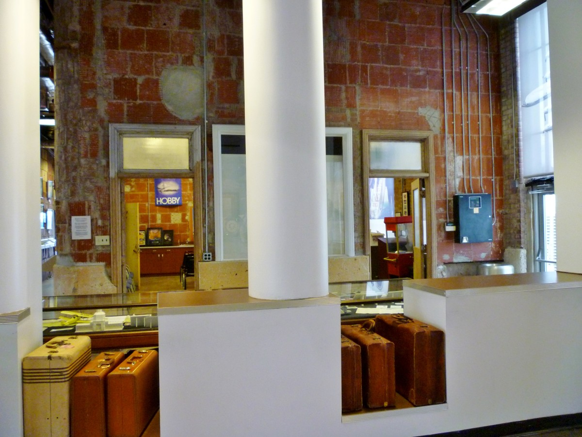 Eastern Airlines lobby luggage check-in area at 1940 Air Terminal Museum
