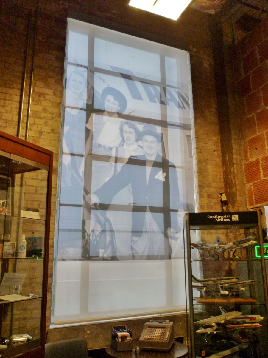 1940 Air Terminal Museum window coverings