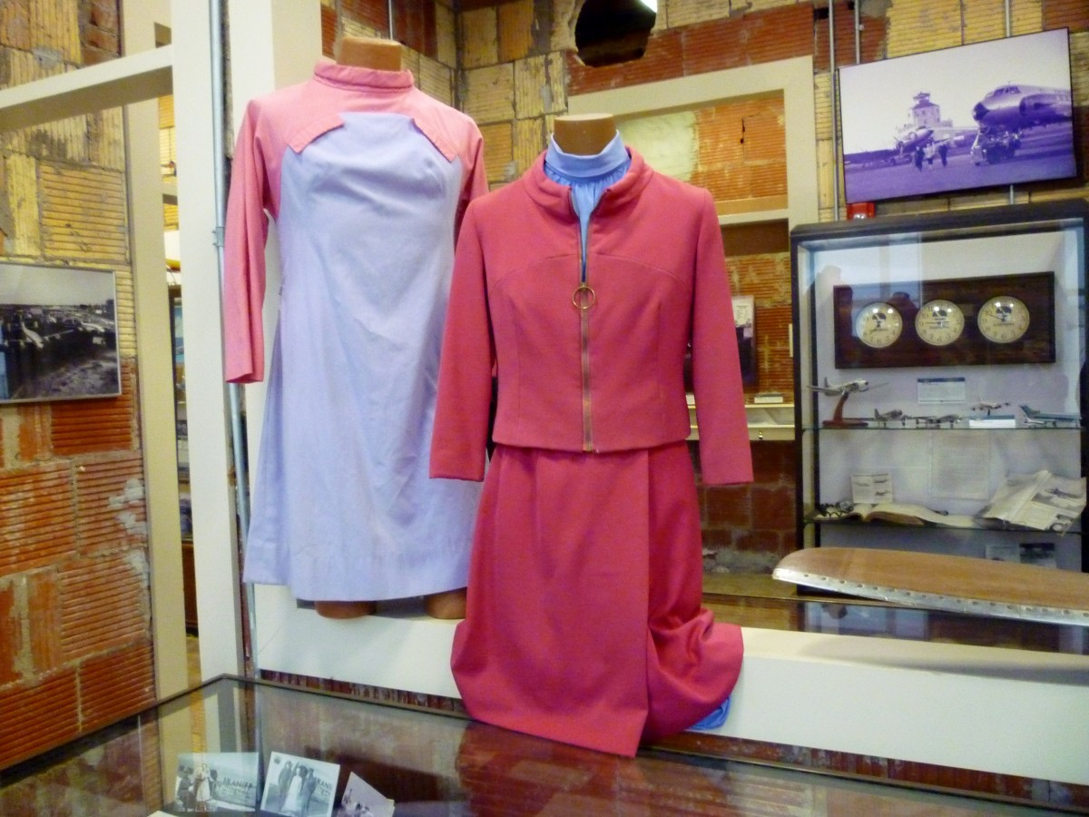 Flight Uniforms on display at 1940 Air Terminal Museum in Houston