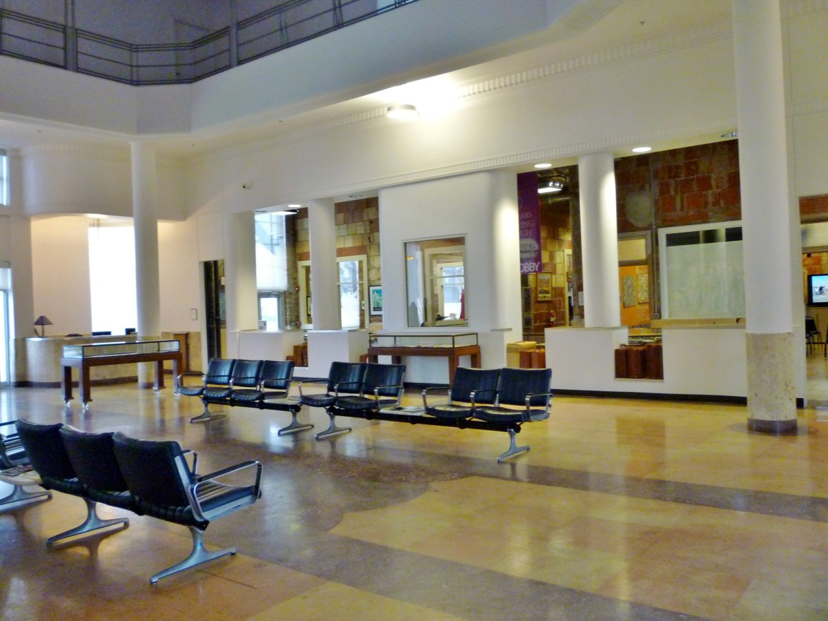 Lobby looking towards check in baggage area of 1940 Air Terminal Museum