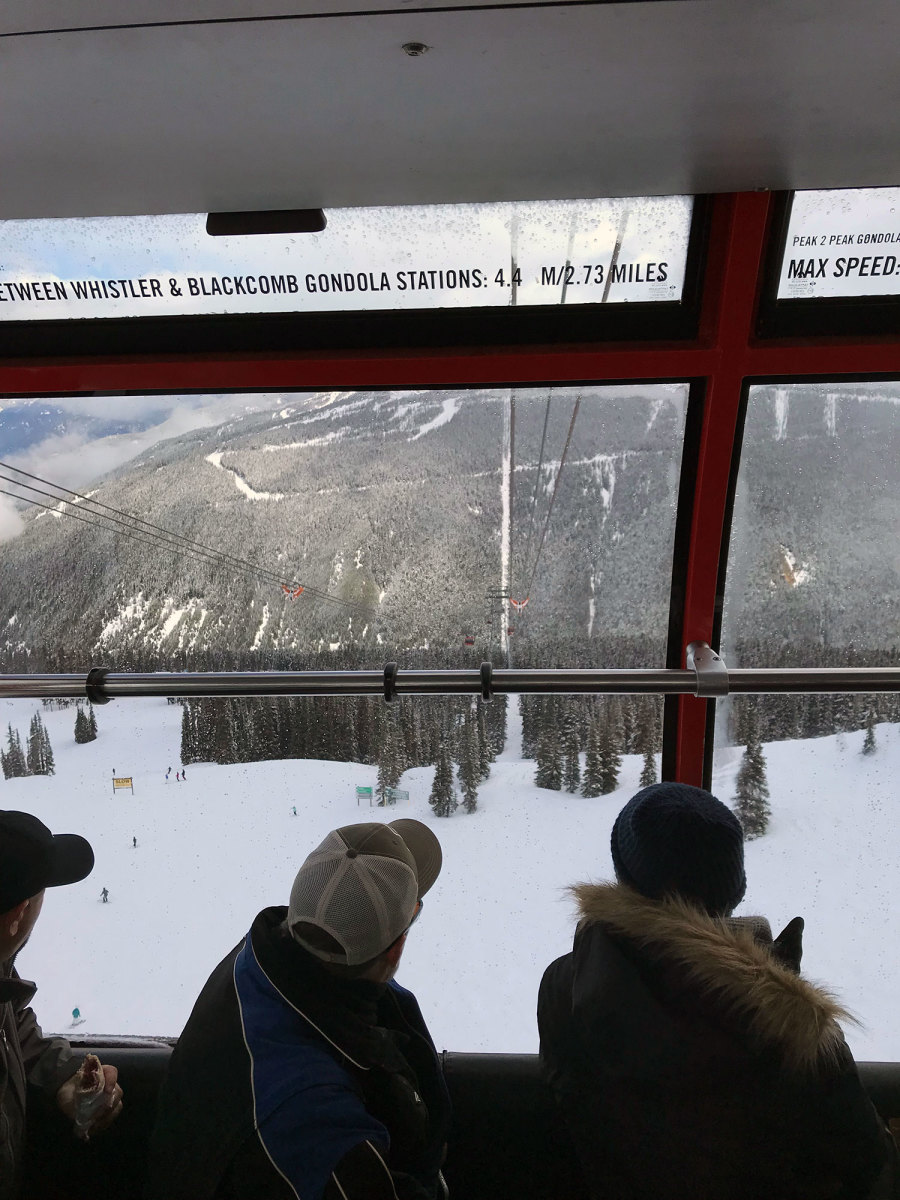 Looking out the Peak 2 Peak Gondola is pretty outstanding.
