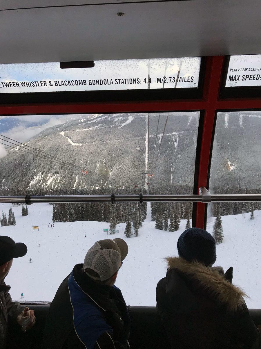 Looking out the Peak 2 Peak Gondola is pretty outstanding.