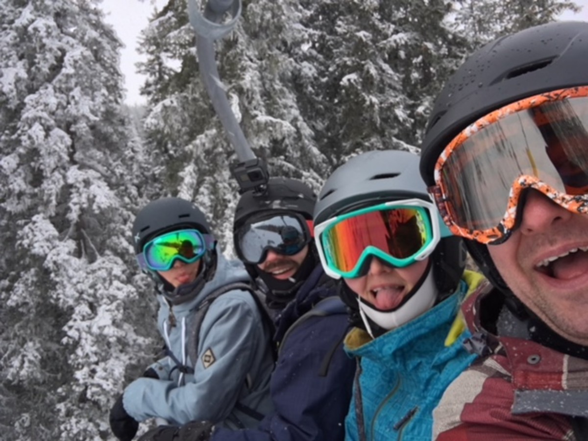 Finally Arrived On The Ski Lifts
