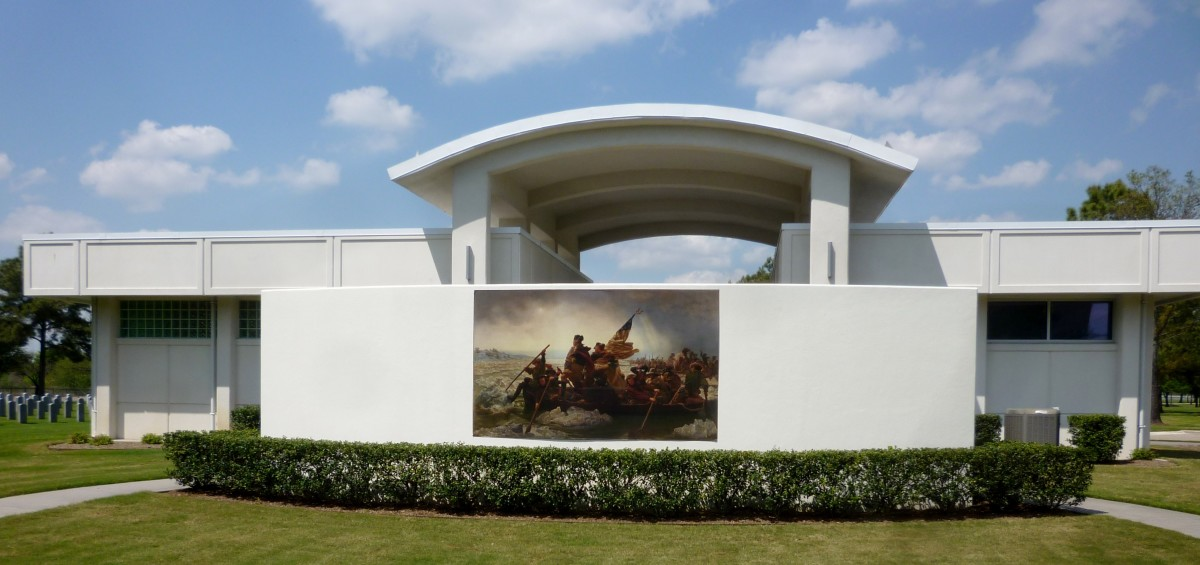 Portion of Administrative offices at Houston National Cemetery
