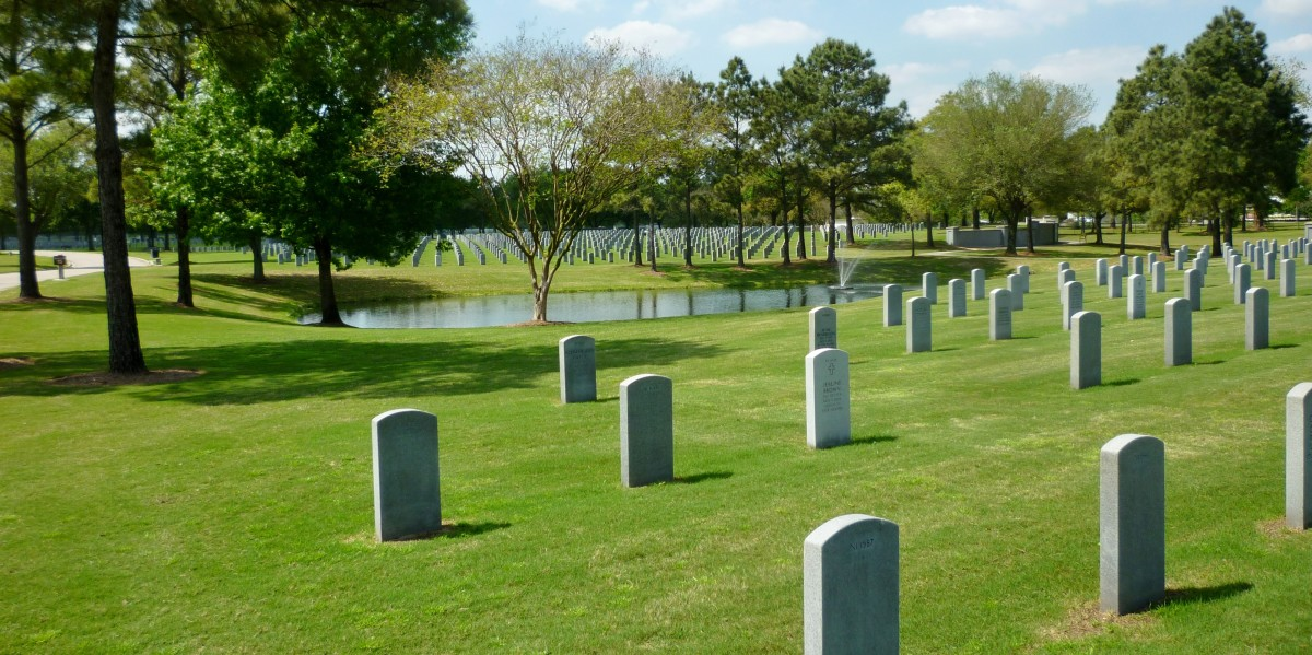 Grave Markers at Houston National Cemetery