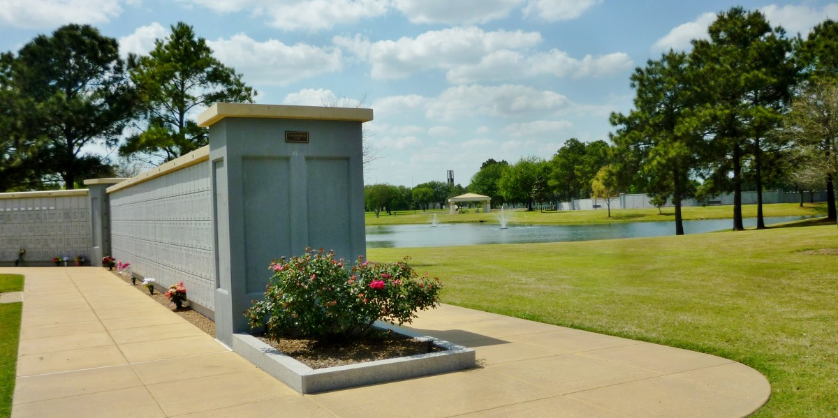 One of many final resting places for cremated individuals at Houston National Cemetery