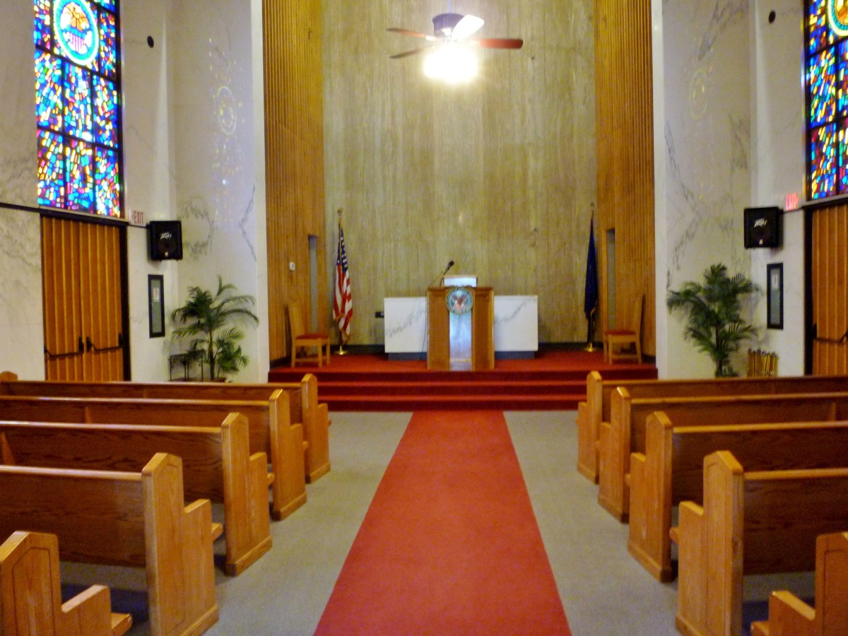 Interior of Chapel at Houston National Cemetery