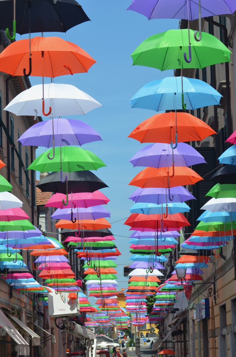 A street full of umbrellas (c) A. Harrison
