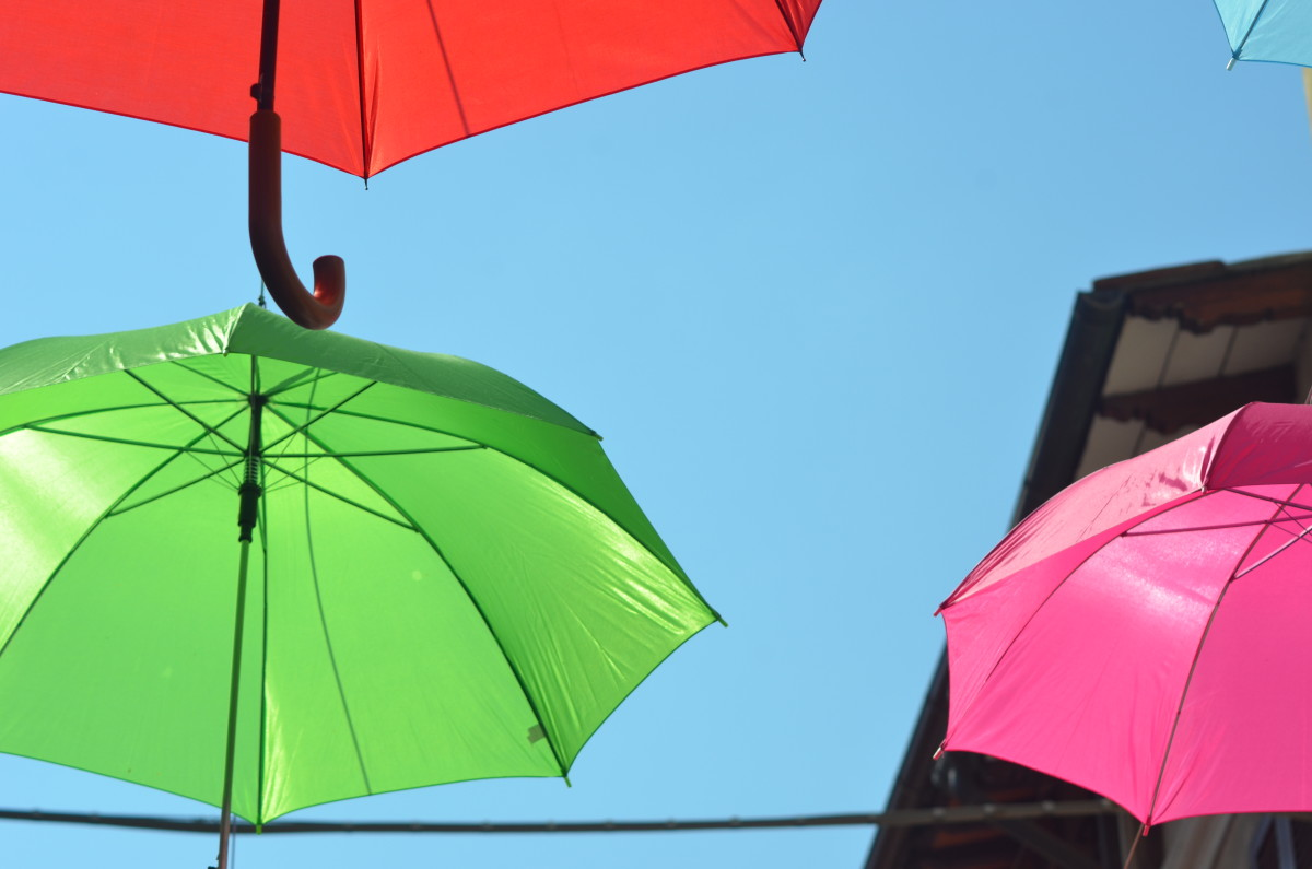 A display of umbrellas (c) A. Harrison