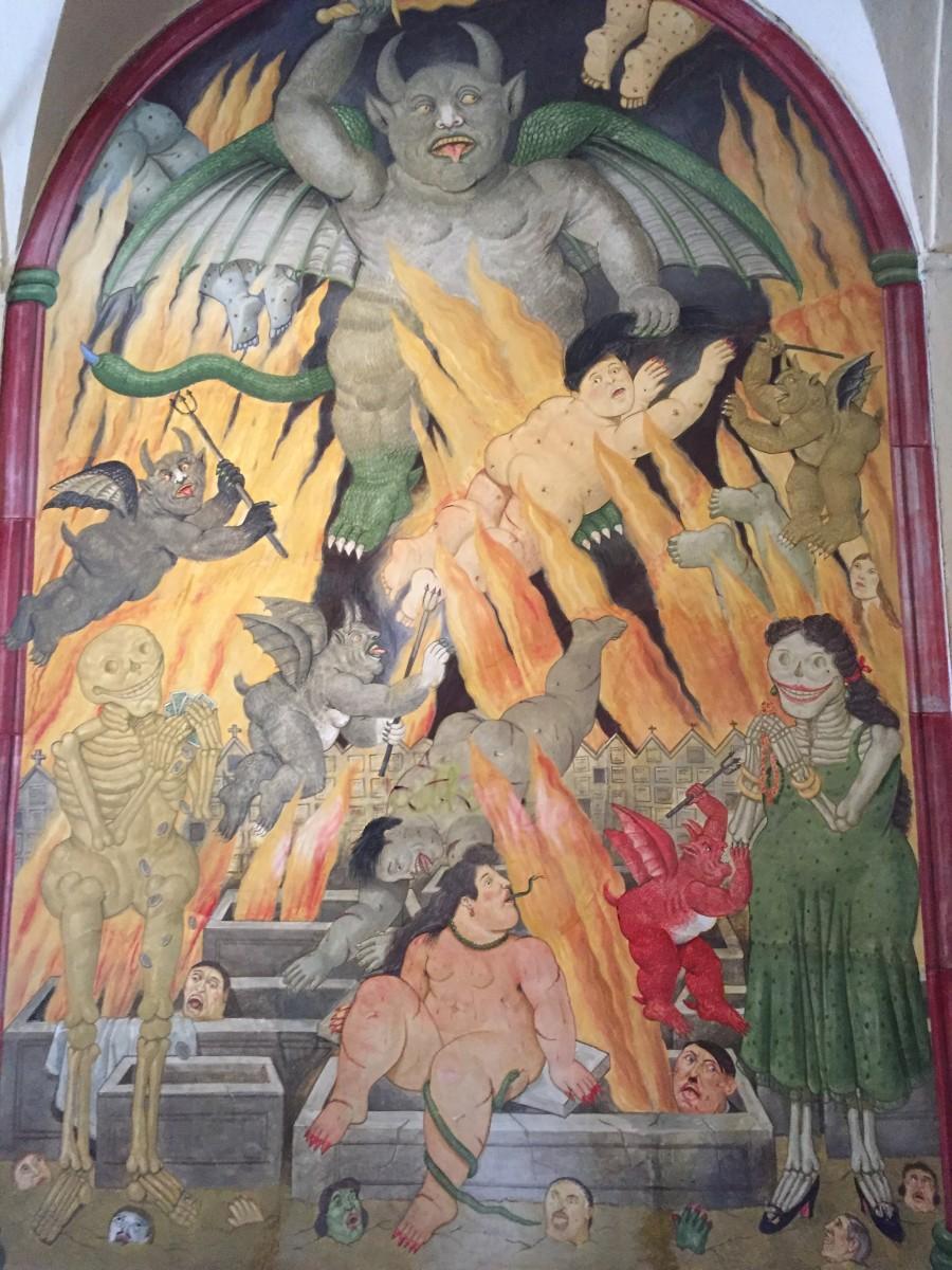 A fresco by Botero (c) A. Harrison