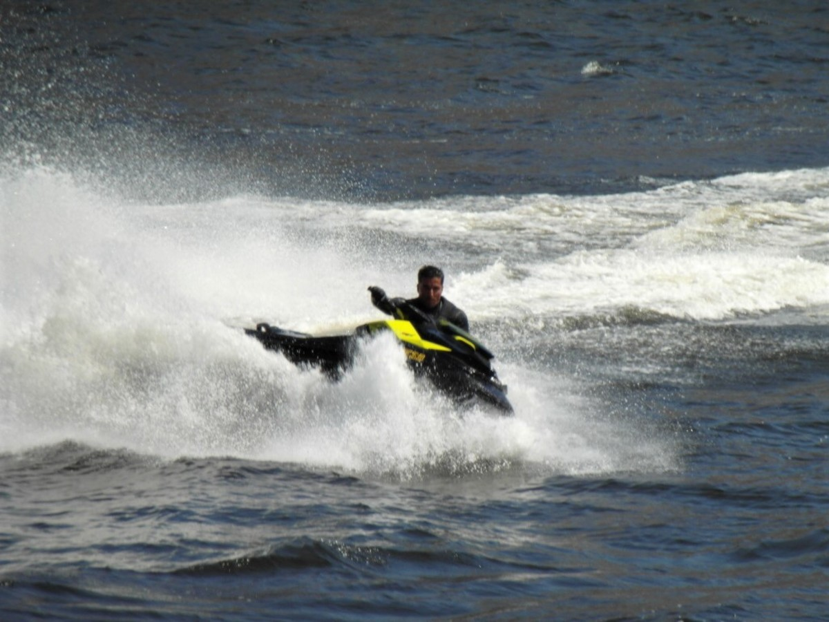 Jet-ski on the River Douro.