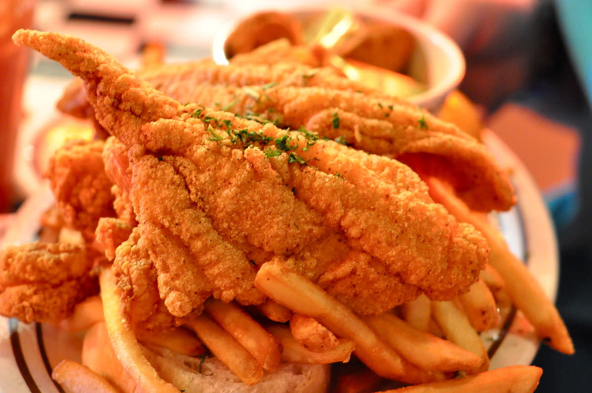 Shrimp and Catfish Platter