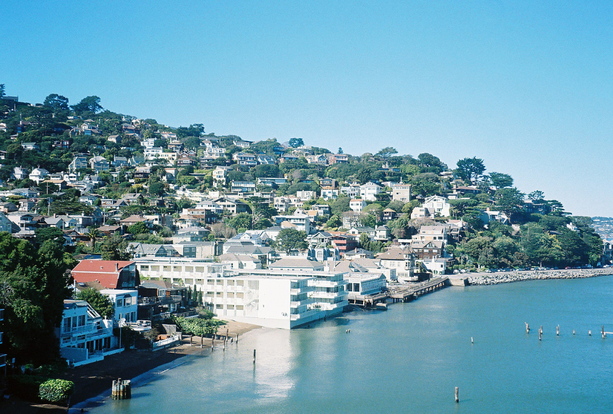 View from a friends' balcony of one side Sausalito