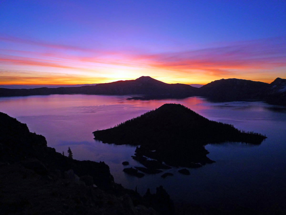 From Watchman Peak, just before sunrise.