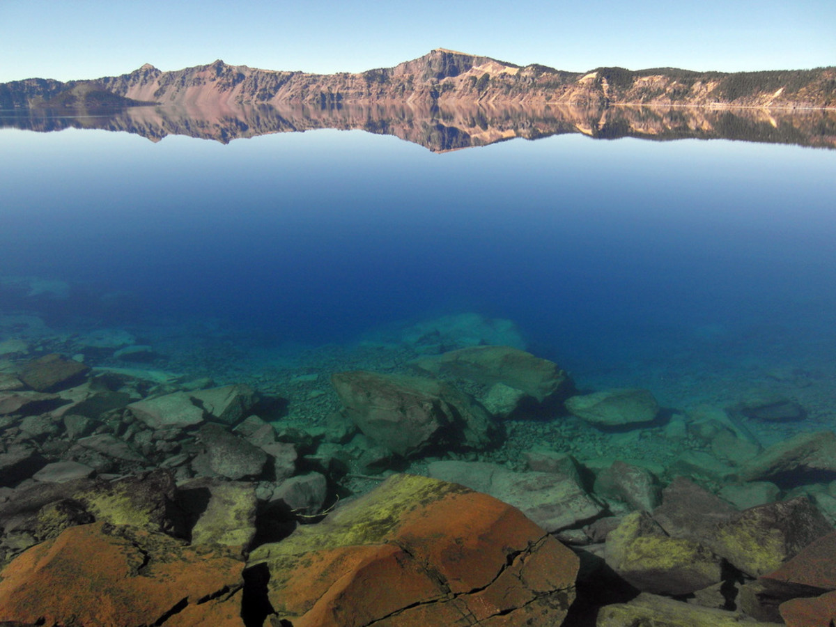 Crater Lake in the summer.