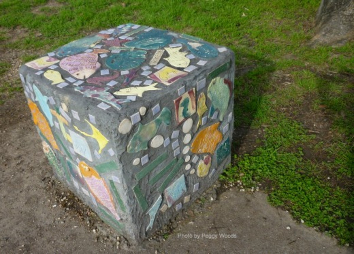 Bench near playground in Stude Park
