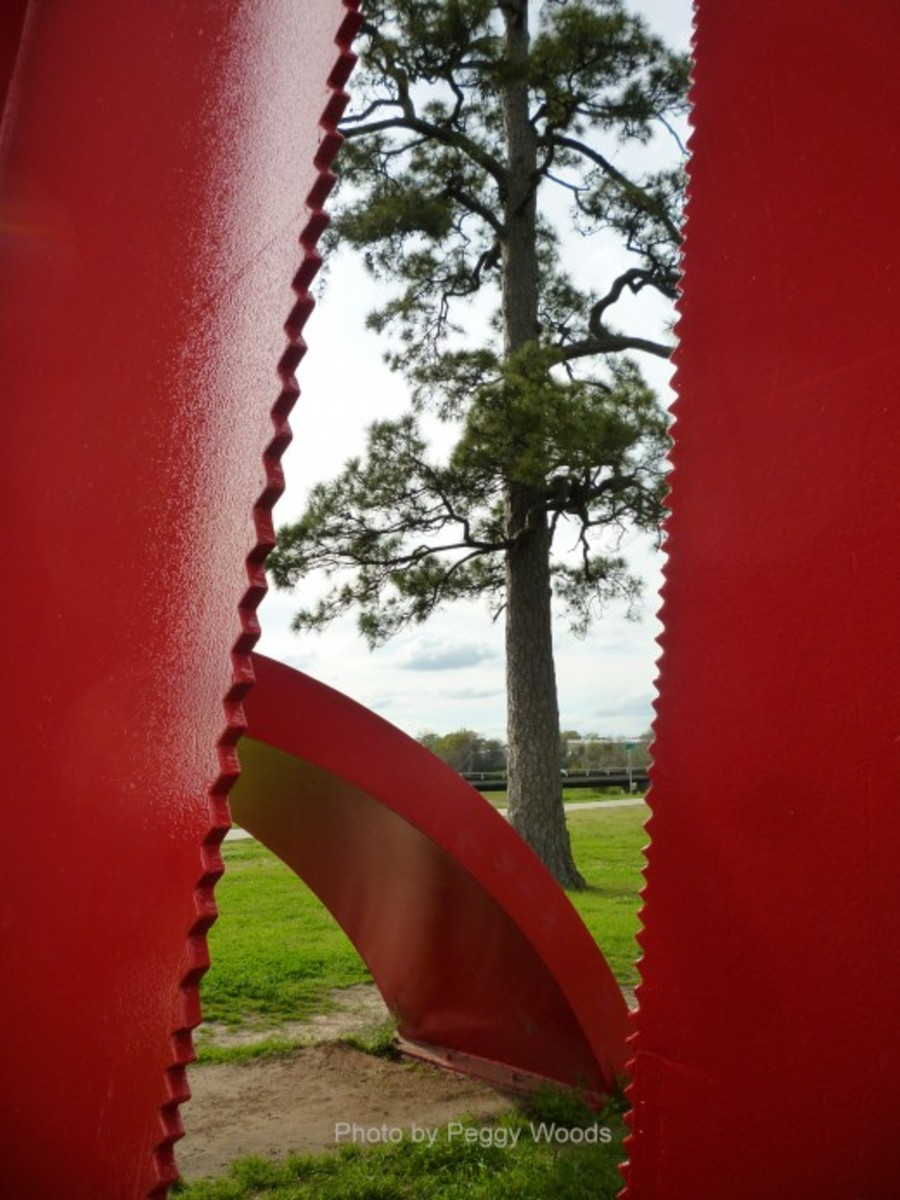 "Closeups & different angles of ""Houston"" sculpture"
