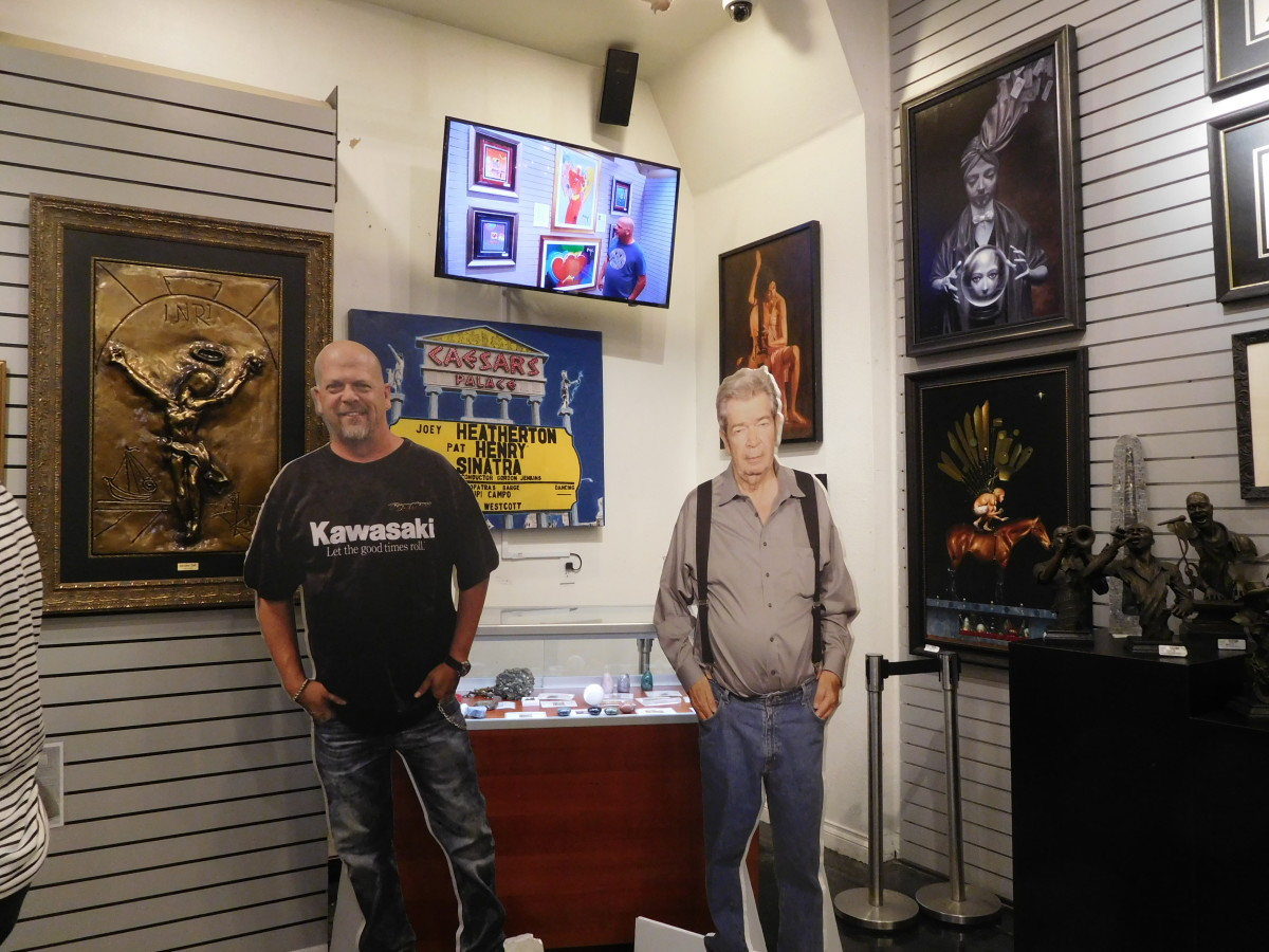 You can have your photo taken with Rick Harrison or The Old Man at the back of the Gold & Silver Pawn Shop