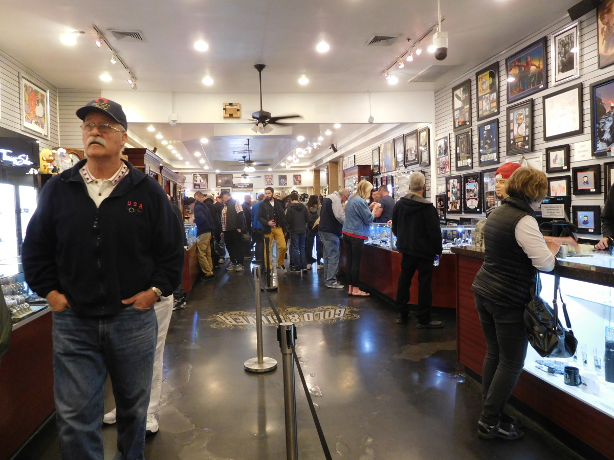 Inside the front door of the Gold & Silver Pawn Shop in Las Vegas