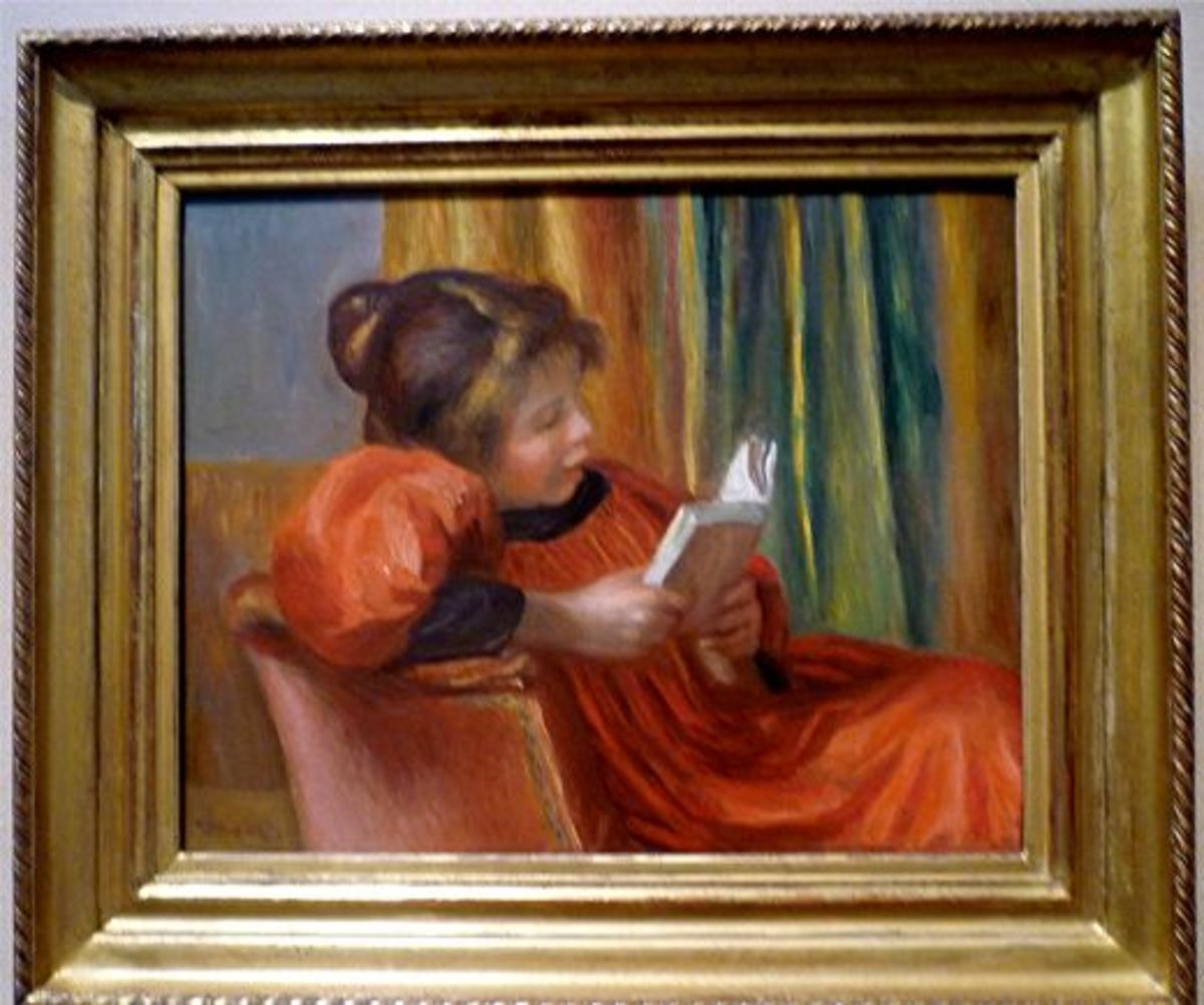 Girl Reading by Auguste Renoir