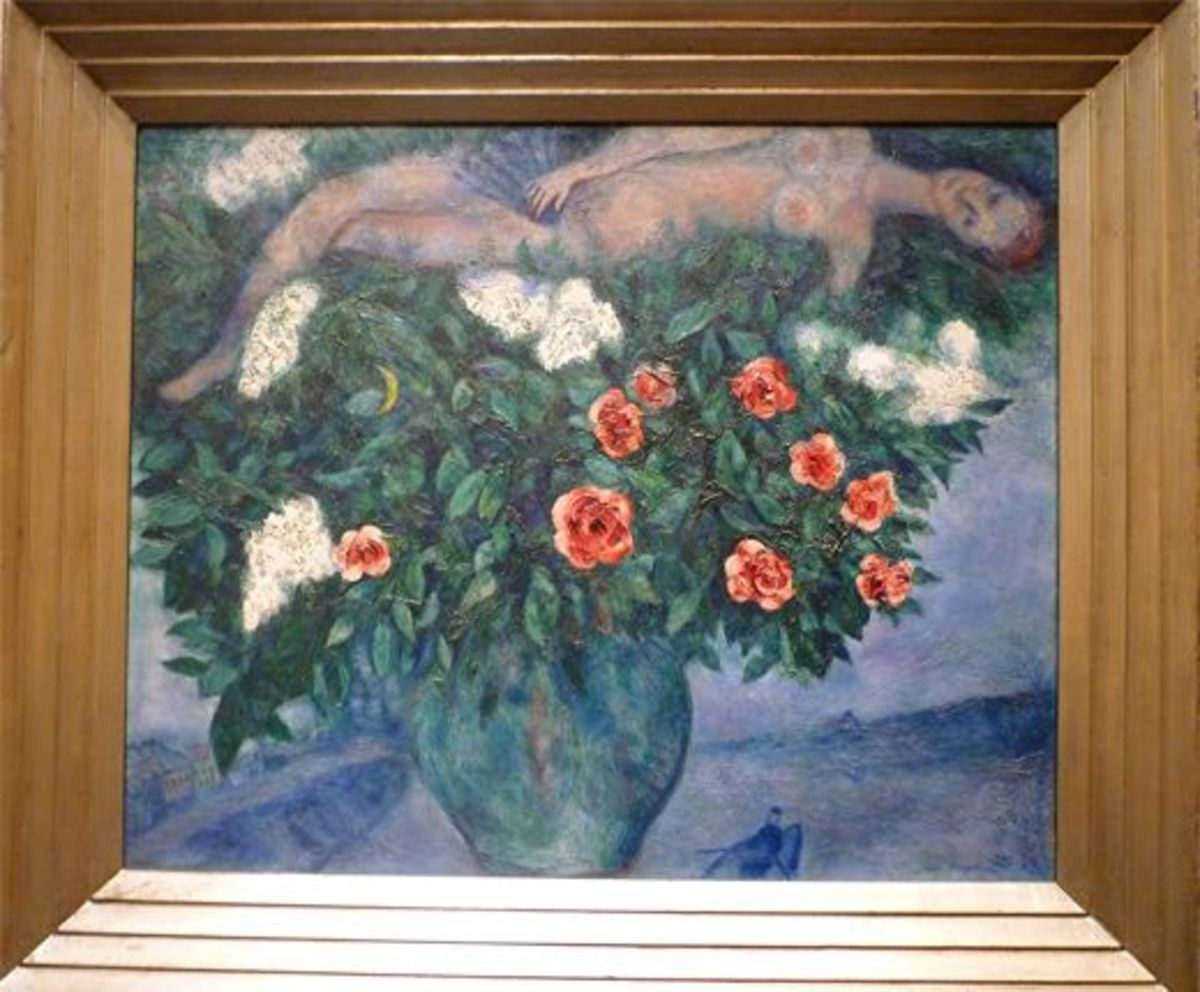 The Woman and the Roses by Marc Chagall