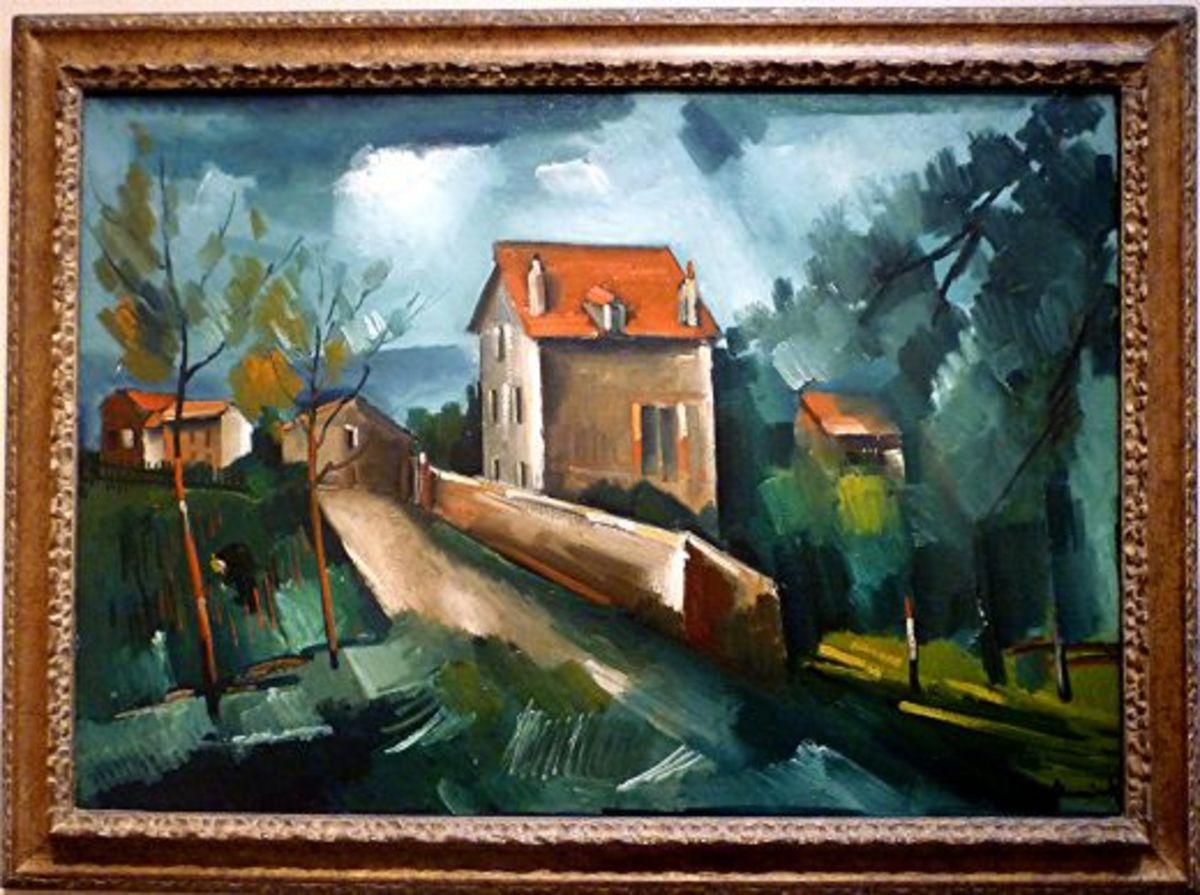 Landscape at Valmondois by Maurice de Vlaminck