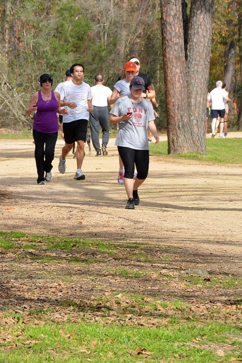 Joggers in Memorial Park
