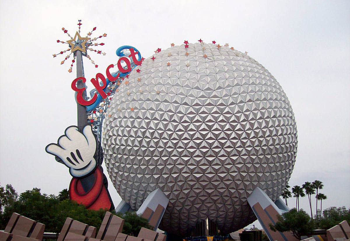 Spaceship Earth is a magical ride, so it made sense to have a magic wand on it!