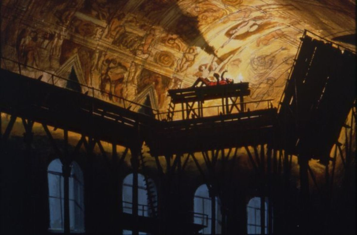 Michelangelo and his painting on the Sistine Chapel ceiling embody the driving concept behind this ride: Since the beginning of time, humans were created to create.
