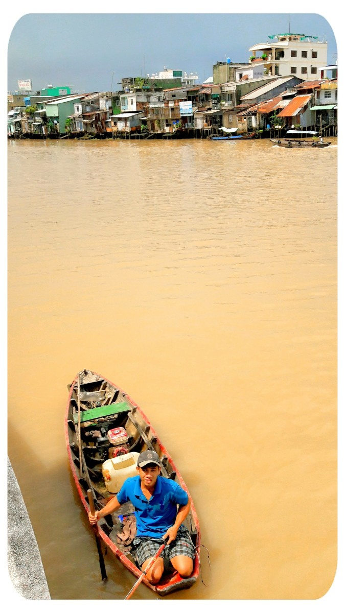 People in the Mekong Delta live primarily on the river.