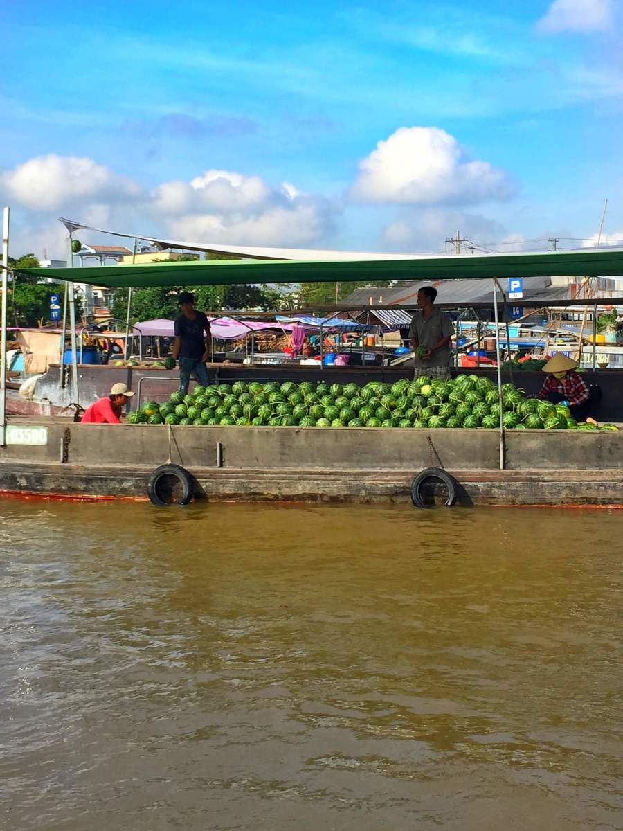 They mainly sell local fruits from the Mekong Delta.