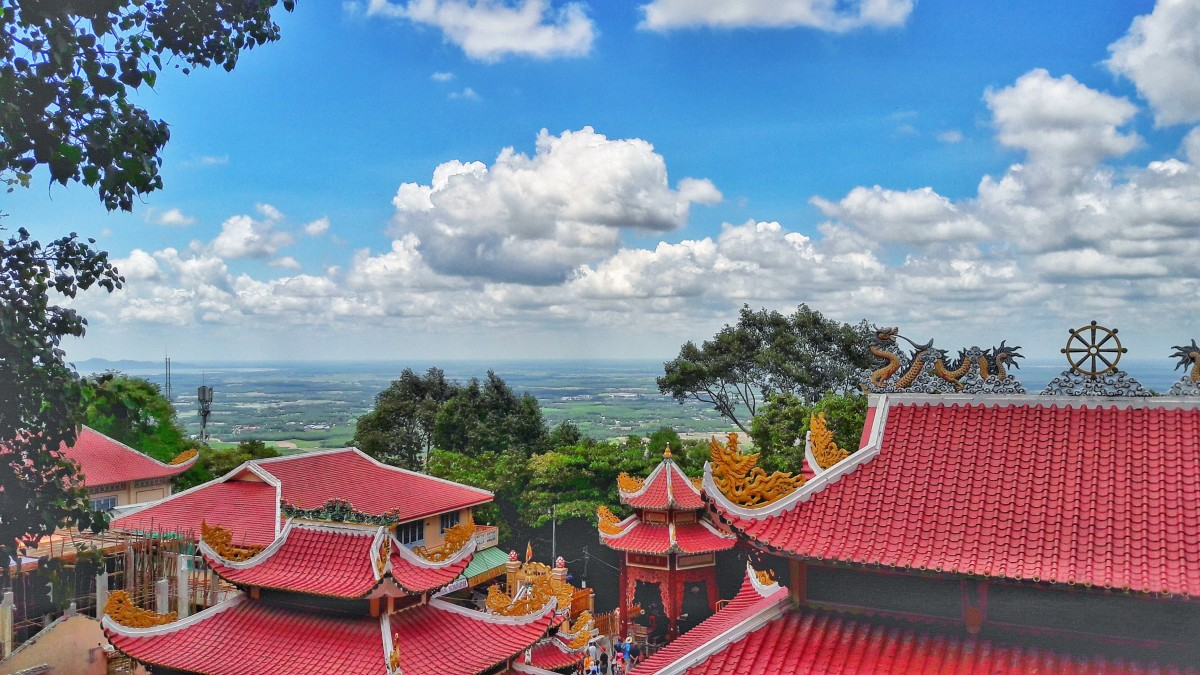 Black Virgin Lady Pagoda on Ba Den Mountain