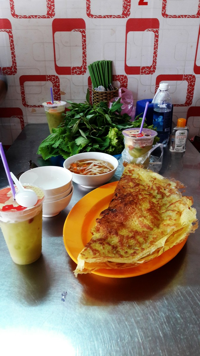 Remember to try banh xeo (Vietnamese pancake) in My Tho.
