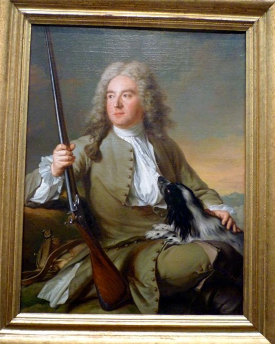 Portrait of Monsieur d' Hotel in Hunting Clothes by Jean-Marc Nattier