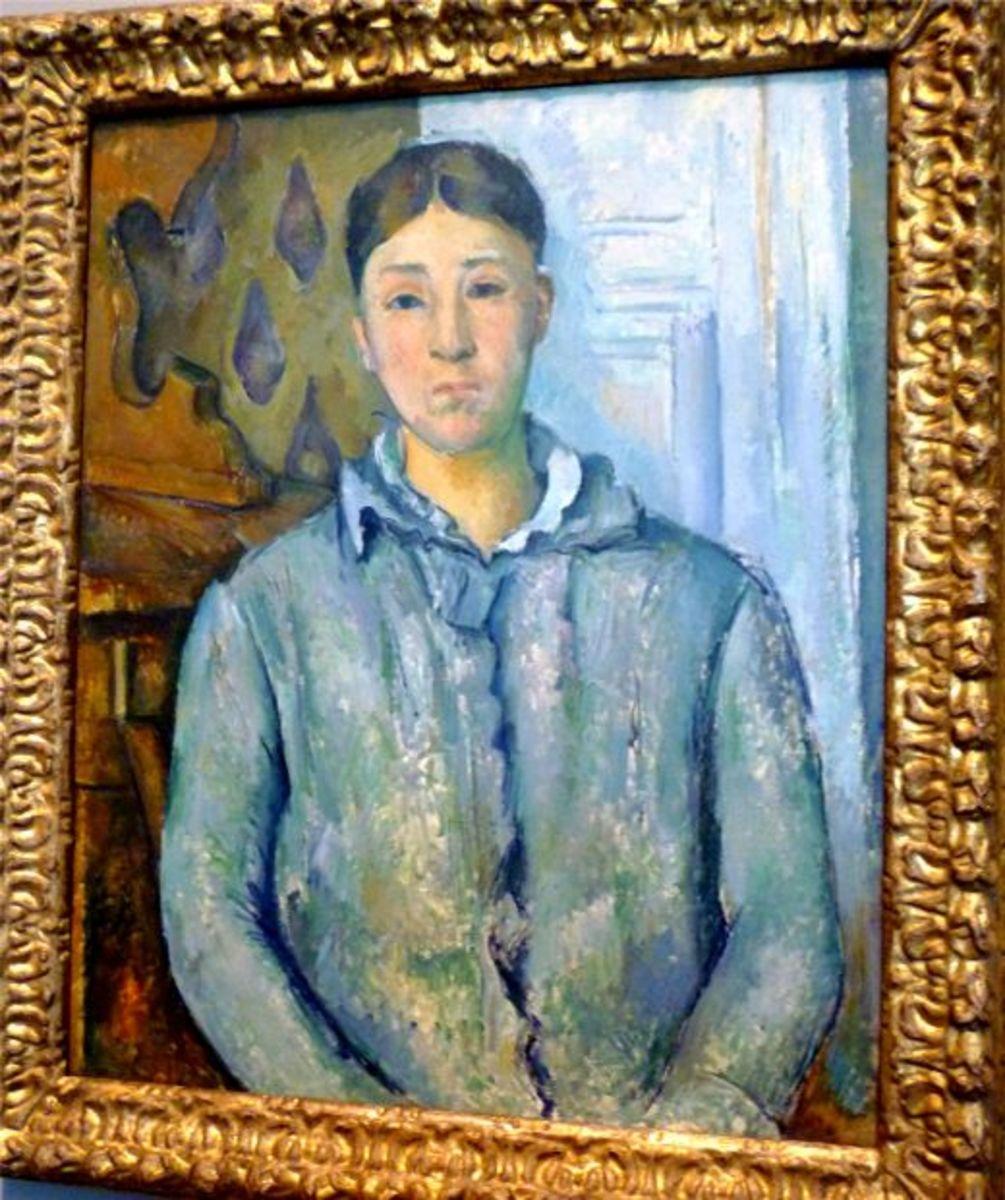 Madame Cezanne in Blue by Paul Cezanne