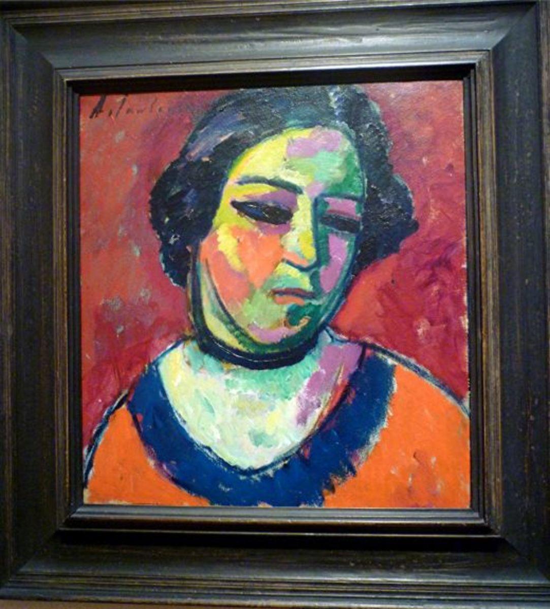 Portrait of a Woman by Alexei Jawlensky