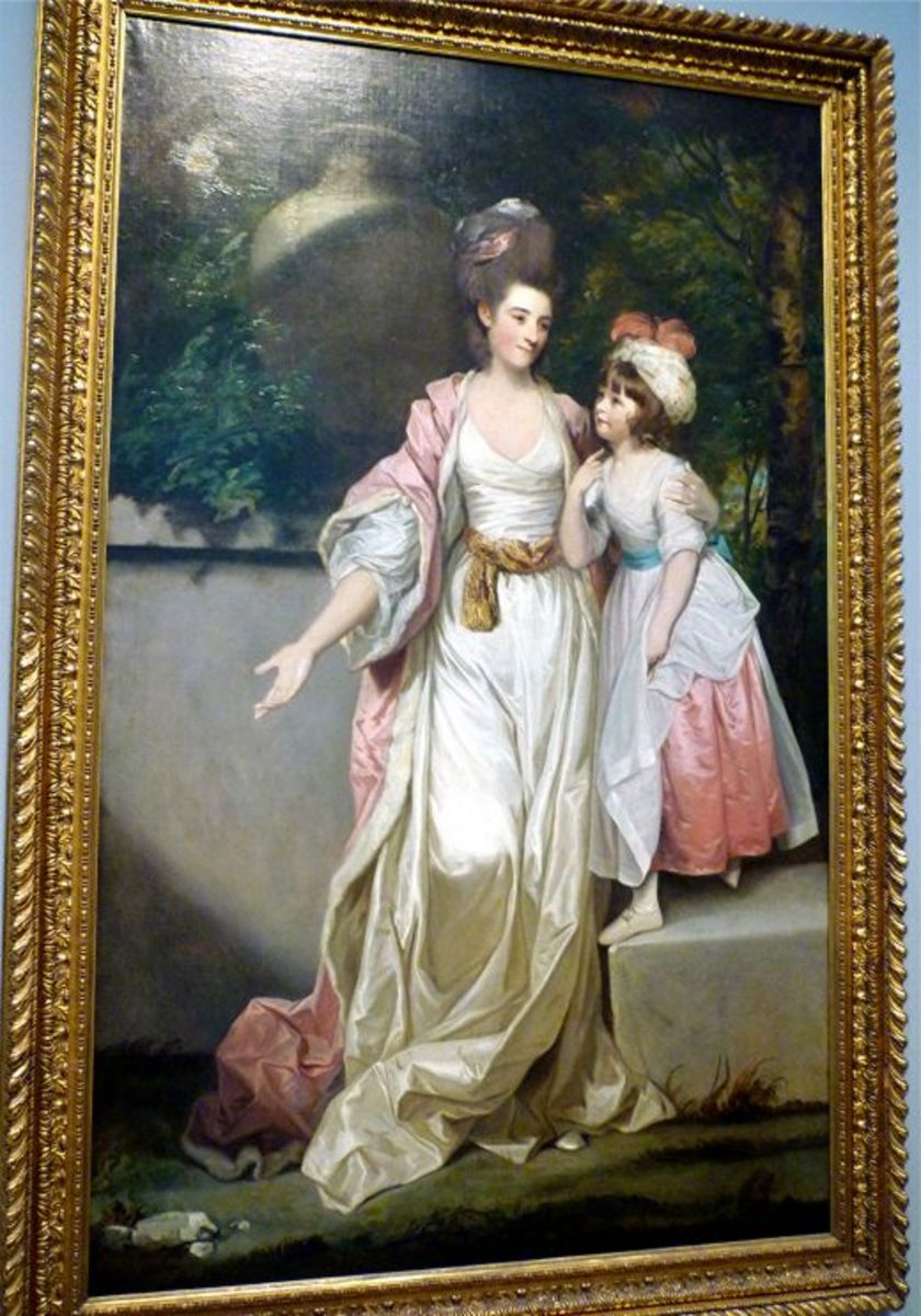 Portrait of Mrs. Jeff Powis and her Daughter by Joshua Reynolds