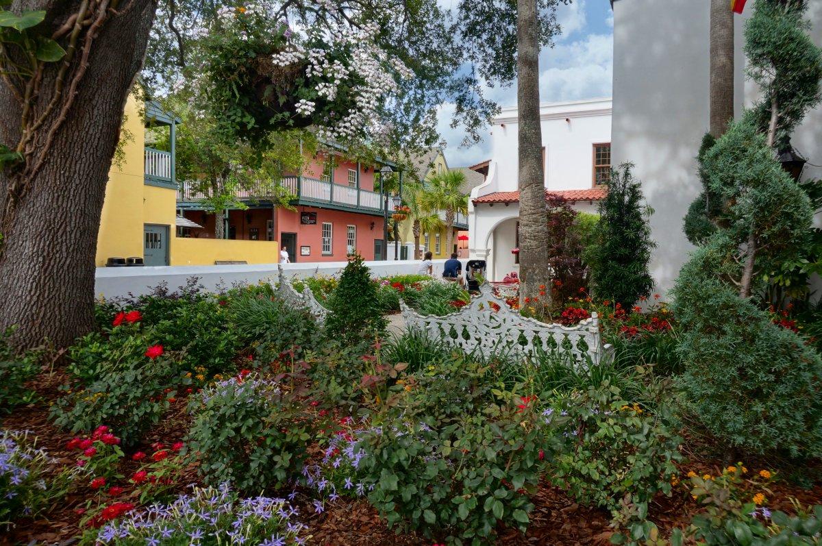 Spanish garden, St. George Street, St. Augustine.
