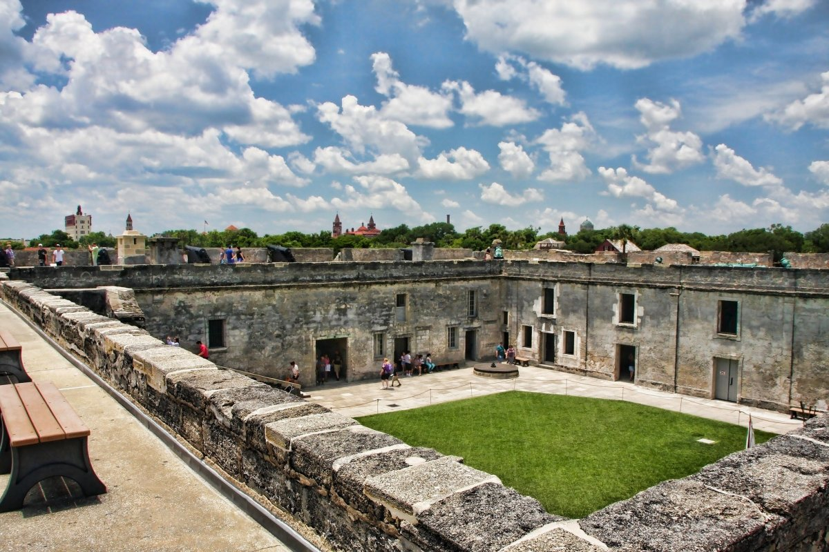 Courtyard of Castillo de San Marcos, Florida