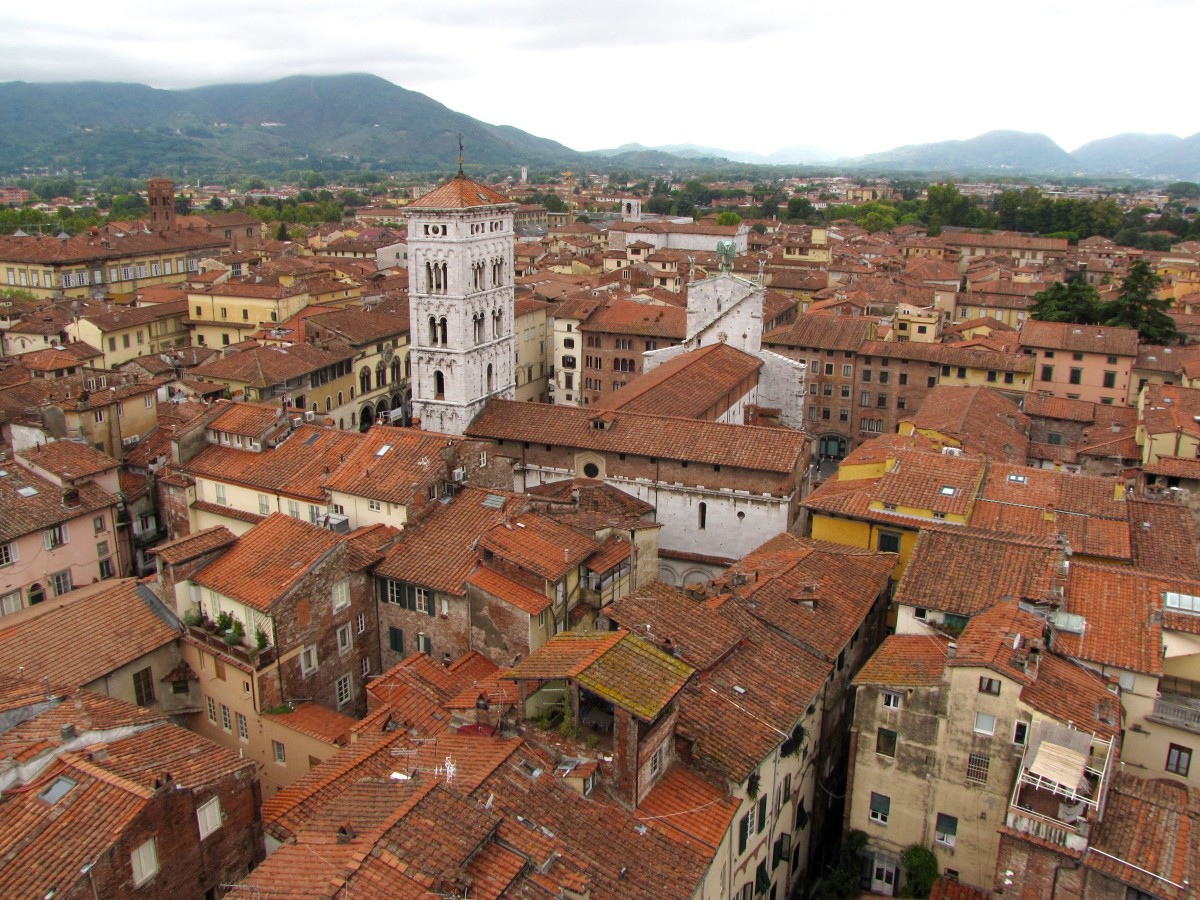 Rooftops and towers of Lucca