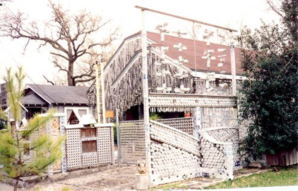 The Beer Can House in Houston, Texas