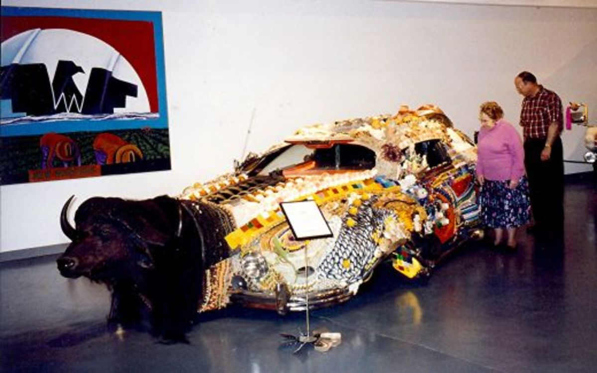 "View of art car named ""Faith"""