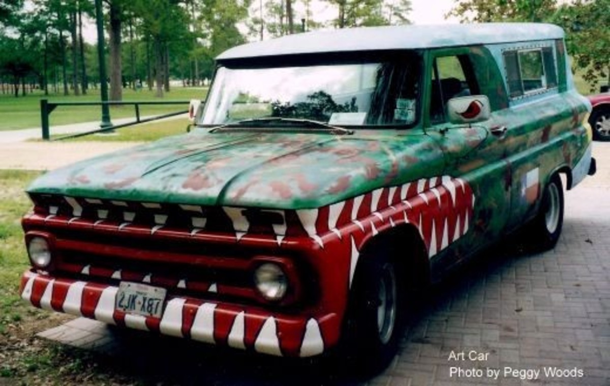 Art car spotted in Hermann Park
