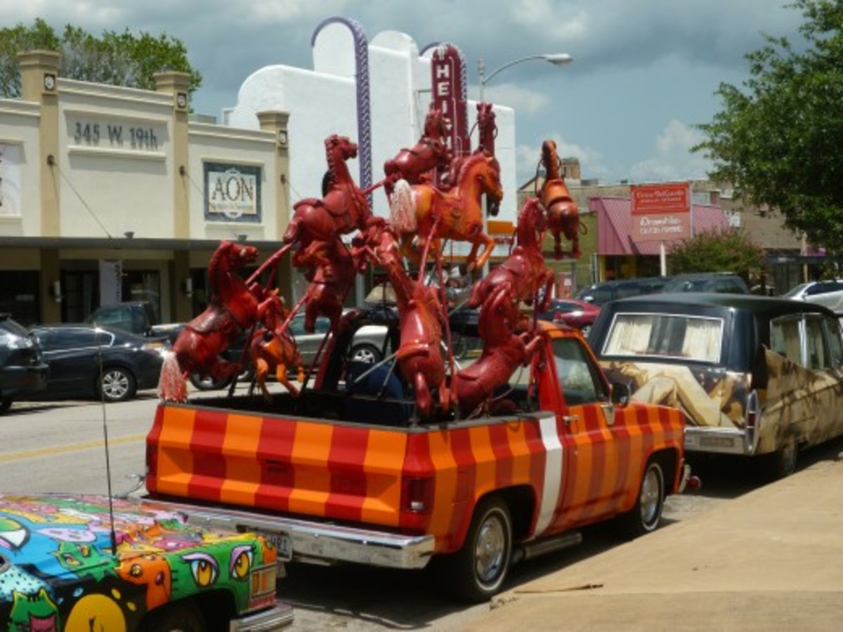 Art cars spotted in the Houston Heights