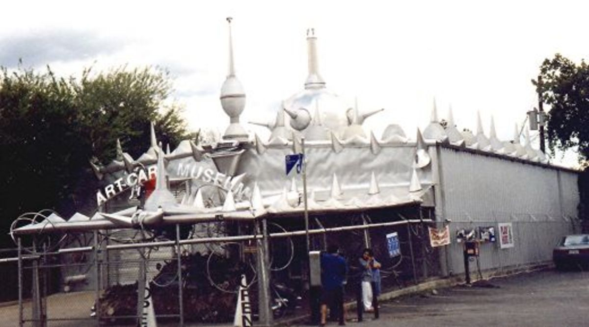 Exterior view of the Art Car Museum