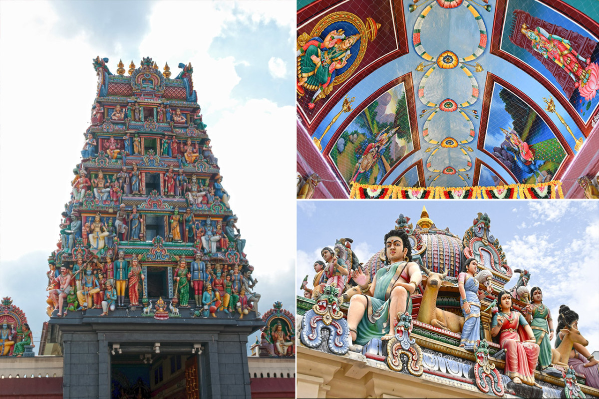 The most eye-catching feature of Sri Mariamman Temple is its incredible gopuram, or entrance tower.